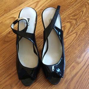 Mossimo Size 5.5 Open Toe Black Heel